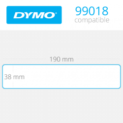 99018 Dymo Etiquetas Compatibles. Medidas 38x190mm