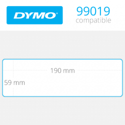 99019 Dymo etiquetas compatibles. Medidas 59x190mm