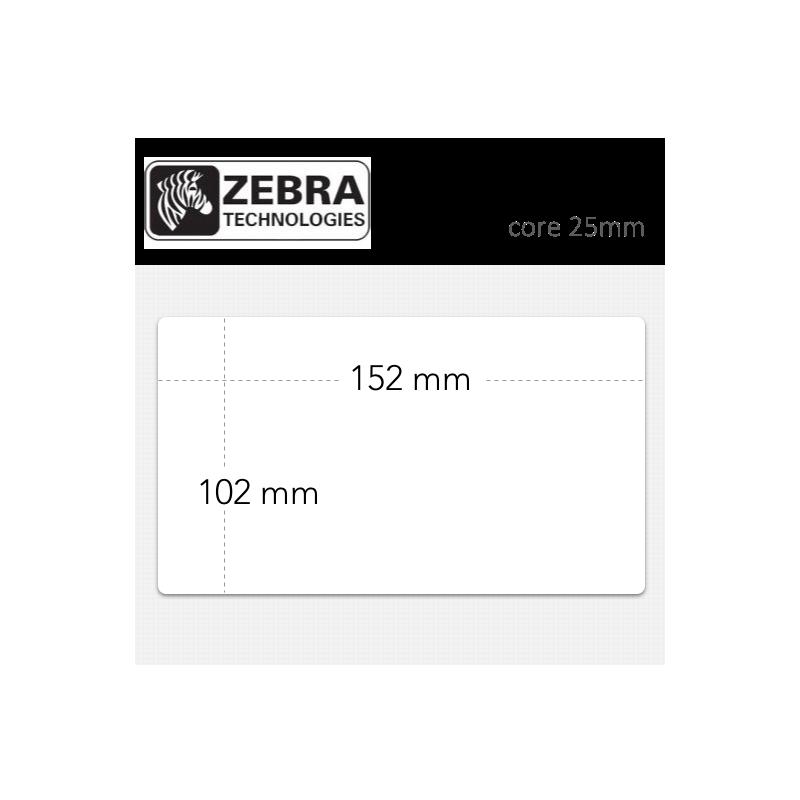 Etiquetas Zebra Z-Perform 1000D núcleo 25mm. Medidas : 150 x 102 mm