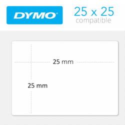 S0929120 Dymo 750 Etiquetas Compatibles medidas 25x25mm