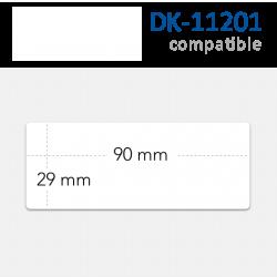 Etiquetas Brother DK-11201 Compatibles. Medidas 29x90mm