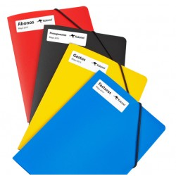 Etiquetas dymo compatibles 99010 en carpetas