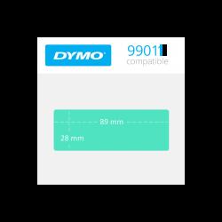 99011G Dymo etiquetas compatibles en color verde. Medidas 89x28mm