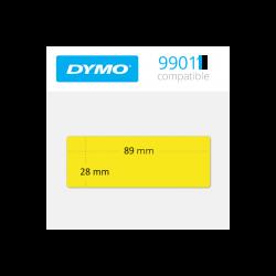 99011Y dymo etiquetas compatibles en color amarillo. Medidas 89x28mm