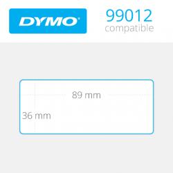 99012 Dymo etiquetas compatibles. Medidas 89x36mm