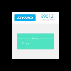 99012G Dymo etiquetas compatibles color verde. Medidas: 89x36mm