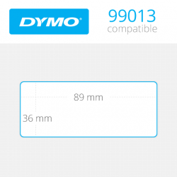 99013 Dymo etiquetas compatibles transparentes. Medidas 89x36mm