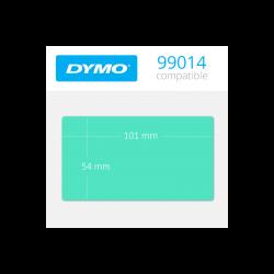 99014G Dymo Etiquetas Compatibles color Verde. medidas 101x54mm
