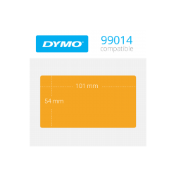99014O Dymo Etiquetas Compatibles color Naranja. Medidas 101x54mm