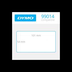 99014RE Dymo Etiquetas Compatibles con adhesivo removible.