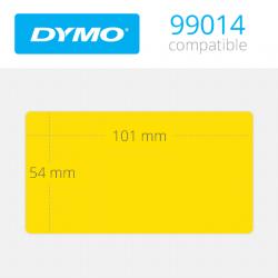 99014Y Dymo Etiquetas Compatibles Amarillas. Medidas 101x54mm