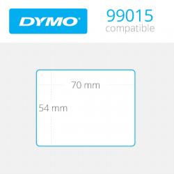 99015 Dymo Etiquetas Compatibles. Medidas 70x54mm